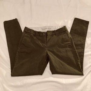 J. CREW Bennett Chino green slacks pants women 6